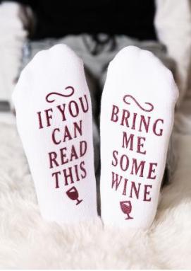 Plus In Love Bring Me Some Wine Socks