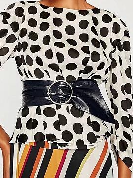 Choies Black Pin Buckle Pu Corset Waist Belt